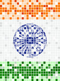 Indian National flag with marble reflection. Royalty Free Stock Photos