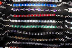 Indian necklaces on the market in India Stock Image