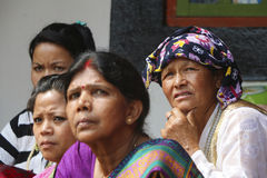 Indian-Nepali women Stock Photo