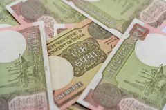 Indian New One Rupee Notes Landscape royalty free stock photography