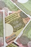 Indian New One Rupee Notes Portrait stock images