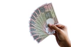 Indian New One Rupee Notes royalty free stock images