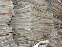 Indian Newspaper stack Stock Image