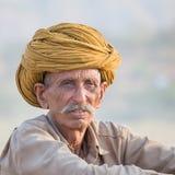 Indian nomad attended the annual Pushkar Camel Mela Stock Image