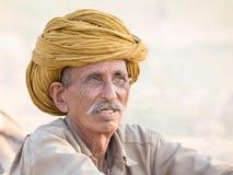 Indian nomad attended the annual Pushkar Camel Mela Stock Photo