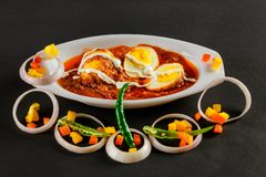 Indian Non-Veg Food with eggs & potatoes royalty free stock photo