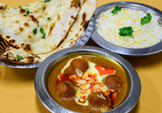 Indian non vegetarian meal Stock Images