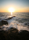 Indian ocean. Coastline Indian ocean on sunset Stock Photography