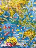 Indian ocean animated children Stock Images