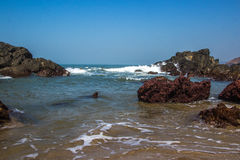 Indian ocean, Arambol beach, Goa, India. 2017 Royalty Free Stock Photos