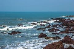 Indian ocean, Arambol beach, Goa, India. 2017 Stock Photos
