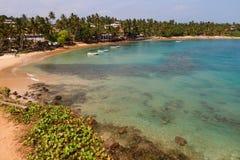 Indian ocean around Mirissa. Sri Lanka stock image