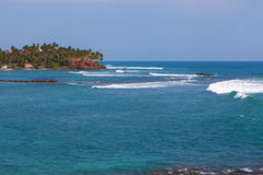 Indian ocean around Mirissa. Sri Lanka Royalty Free Stock Image