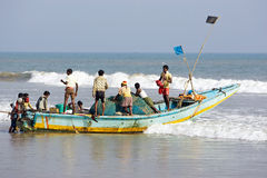 Indian Ocean artisan fishing Royalty Free Stock Images