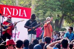 Indian Ocean band playing at Raahgiri day Gurgaon Stock Images