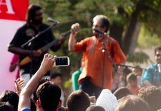Indian Ocean band playing at Raahgiri day Gurgaon Royalty Free Stock Images