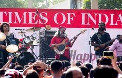 Indian Ocean band playing at Raahgiri day Gurgaon Stock Photography