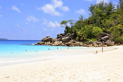 Indian Ocean and beach Anse Georgette Royalty Free Stock Image