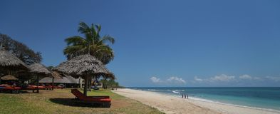 Indian Ocean Beach in Tanzania royalty free stock images