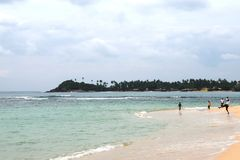 On the Indian ocean. Beaches on the island of Ceylon Stock Images