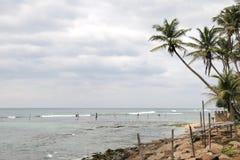 On the Indian ocean. Beaches on the island of Ceylon Stock Photos
