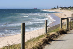 Indian Ocean at Bunbury Western Australia from Cycleway. Stock Photos