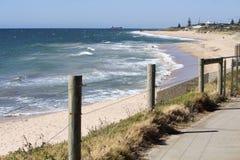 Indian Ocean at Bunbury Western Australia from Cycleway. Stock Photos