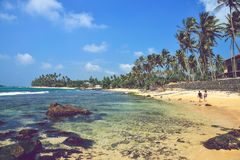 Indian Ocean coastline. Nice landscape with the ocean and rocks stock images