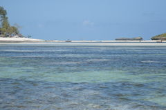 Indian ocean. Facing beach from the water royalty free stock photography