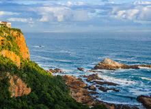 Indian Ocean at Knysna, South Africa. View of the Indian Ocean from the Knysna Heads on the Garden Route in South Africa Stock Photo