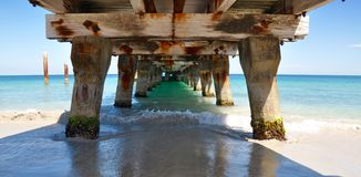 Indian Ocean Landscape from Under the Jetty Stock Photos