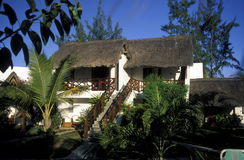 INDIAN OCEAN MAURITIUS HOTEL BUNGALOW Royalty Free Stock Photography