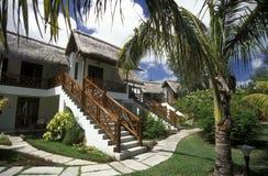 INDIAN OCEAN MAURITIUS HOTEL BUNGALOW Stock Photo
