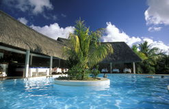 INDIAN OCEAN MAURITIUS HOTEL BUNGALOW Royalty Free Stock Images