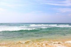 Indian ocean off the Koggala beach Stock Image