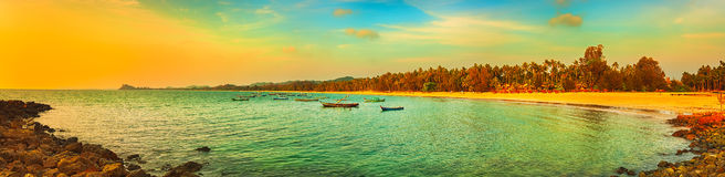 The Indian ocean. Panorama Stock Images