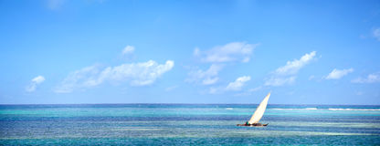 Indian Ocean panorama in Zanzibar Stock Image