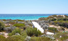 Indian Ocean Path: Hillarys, Western Australia royalty free stock photo