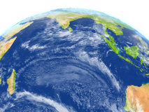 Indian Ocean on planet Earth. Indian Ocean. 3D illustration with detailed planet surface. Elements of this image furnished by NASA Stock Image