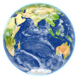 Indian Ocean on planet Earth. Indian Ocean. 3D illustration with detailed planet surface. Elements of this image furnished by NASA Stock Photography
