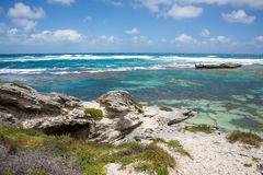 Indian Ocean: Rock and Reef Royalty Free Stock Images