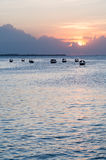 Indian ocean seen from Zanzibar at sunset Royalty Free Stock Image