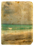 Indian Ocean, Seychelles. Old postcard. Royalty Free Stock Images