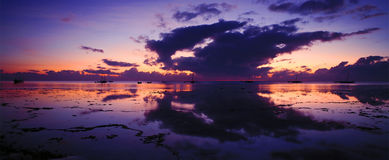 Indian Ocean Sunrise. A view of an Indian ocean sunrise off the east coast of Africa in Kenya royalty free stock images