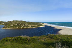 Indian ocean view, Australia. Scenic view of Indian Ocean view and Moore river at Guilderton, Western Australia Stock Photo