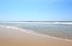Indian Ocean, the view from the beach in Bentota, Sri Lanka Royalty Free Stock Photography