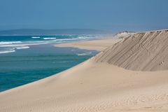 Indian Ocean view in the De Mond coastal nature reserve, South Africa royalty free stock photo