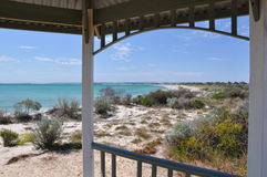 Indian Ocean View from Gazebo: Jurien Bay Royalty Free Stock Photos