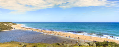 Indian ocean view and Moore  river, Australia. Stock Photo