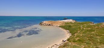 Indian Ocean View: Penguin Island, Western Australia Royalty Free Stock Images